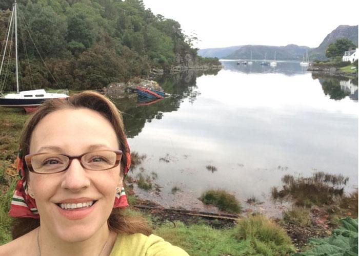 Kiley Dunbar on an early morning walk in Plockton, (c) Kiley Dunbar