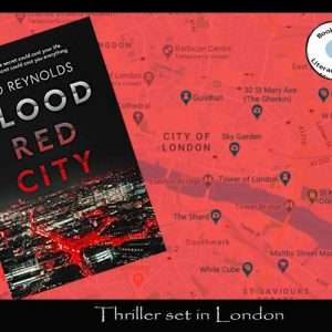 Blood red thriller set in London by Rod Reynolds