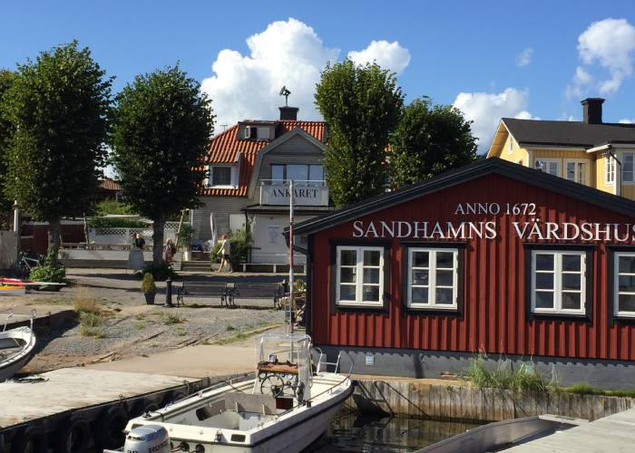Literary locations on Viveca Sten's SandhamnVardshuset Sandhamn (c) TheBookTrail