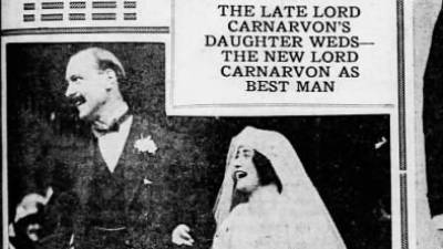 Six months after her father's sudden death in Cairo,#LadyEvelynHerbertmarried Sir Brograve Beauchamp; the bride was 5 foot 1 inch and the groom 6 foot 4