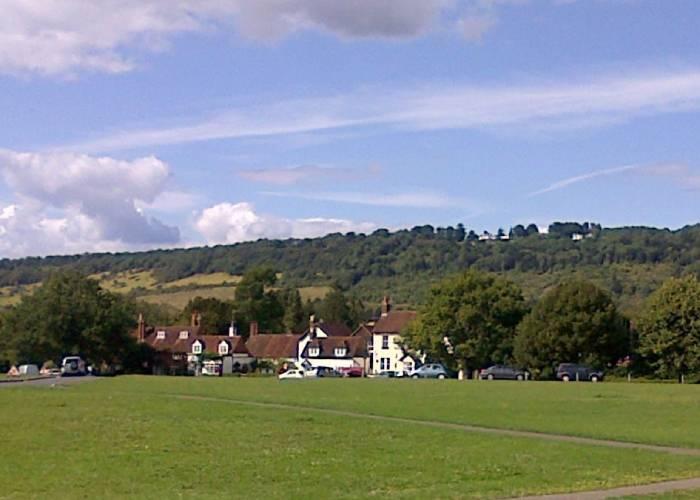 Brockham Village Green in Surrey (c) Rebecca Smith