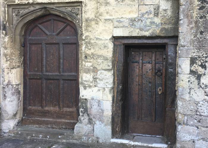 Intriguing doors at Romsey Abbey (c) Rebecca Smith